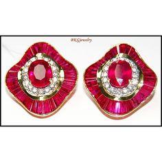 http://rubies.work/0662-ruby-rings/ Eternity Gemstone 18K Yellow Gold Diamond Ruby by BKGjewels