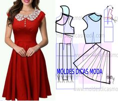 dress with collar detail in income