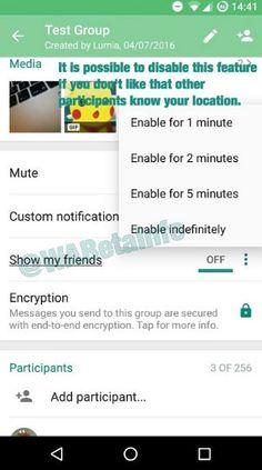 رصد زنده لوکیشن دوستان به زودی به اپلیکیشن واتس اپ می آید