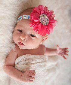 Pink Flower 'Lil Sister' Headband