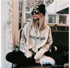 2016 Wholesale Fashion Hoodies Street fear-of-god printing embroidery autumn true brand hip hop clothing blouses men plus size oversize XL