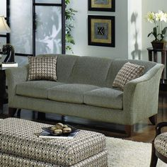 Craftmaster 7844 Stationary Sofa with Flared Arms - At Home Furniture - Sofa Salt Lake City, Park City, Bountiful, Provo, Orem, Utah