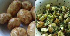 Nove zemiačiky pečené v cesnakovo bylinkovej marináde - Receptik.sk