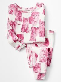 Pink kitten sleep set