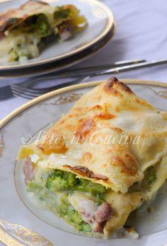 Lasagne broccoli e salsiccia con besciamella vickyart arte in cucina