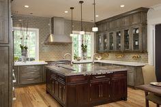 Rustic Kitchen Cabinets for Sale Fresh Applying the Distressed Kitchen Cabinets for the New Decor - Home Ideas Kitchen Island With Sink, Sink In Island, Kitchen Sink, Kitchen Craft, Kitchen Ideas, Kitchen Islands, Big Island, Gray Island, Kitchen Images