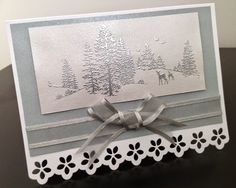 An embossed Christmas card