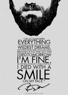 Reading this really upsets me. Ryan Dunn, you will never be forgotten. It's hard to believe that this year will make 3 years that you have been gone. It's so crazy. Watching any of the Jackass scenes with you in it makes me laugh but makes me wanna cry because you were such an amazing dude and all of your fans miss you. We love you. Jackass just isn't the same without you!