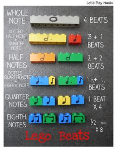 Lego beats - A great way to teach rhythm with lego