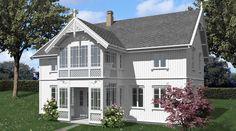Sånn at man kan ha de som vanlige vinduer i hus? Scandinavian Cottage, White Houses, Home Fashion, Cottage Style, Beautiful Homes, Outdoor Living, New Homes, Real Estate, Exterior