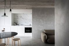 Cafeine Architectuur & Interieur Fotographie (The Design Chaser) Interior Exterior, Kitchen Interior, Interior Architecture, Kitchen Design, Studio Kitchen, Light Architecture, Sweet Home, Boffi, Wall Finishes