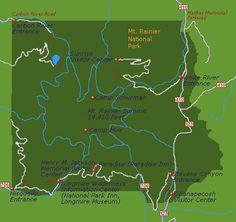 map of Mt. Rainier Nat'l Park