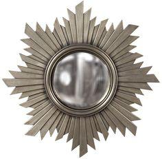 "Euphoria Metal Nickel Sunburst Mirror 21"" $99"