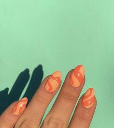 Stylish Nails, Trendy Nails, Nail Design Glitter, Nagellack Design, Acylic Nails, Orange Nails, Acrylic Nails Orange, Orange Nail Art, Funky Nails