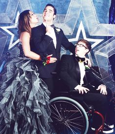 Prom 2013- Artie, Blaine, and Tina
