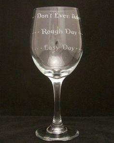 Good Day Bad Day Wine Glasses mothers day gifts, Birthday gifts, Bridal gifts, fathers day gifts, retirement gifts on Etsy, $20.00