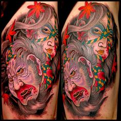 Namakubi (severed head) have roots in the warrior class of feudal Japan and can represent a number of things including battle prowess or respect for ones enemy. Tribal Fashion, Respect, Roots, Battle, Oriental, Romantic, Japan, Number, Tattoos