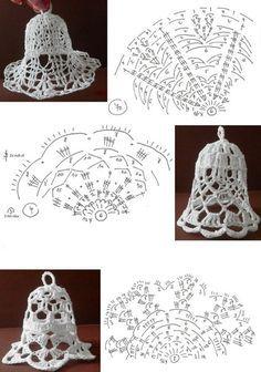 Photo Crochet Snowflake Pattern, Crochet Snowflakes, Crochet Doily Patterns, Crochet Diagram, Crochet Chart, Crochet Doilies, Crochet Christmas Ornaments, Christmas Crochet Patterns, Holiday Crochet
