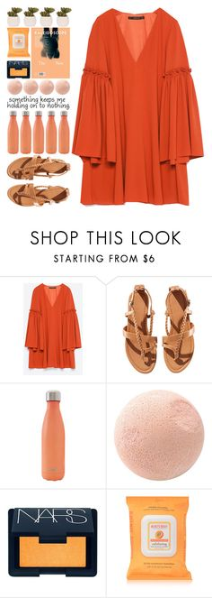 """""""WILDES–BARE"""" by owlmarbles ❤ liked on Polyvore featuring Zara, H&M, S'well, NARS Cosmetics, Burt's Bees and Lux-Art Silks"""