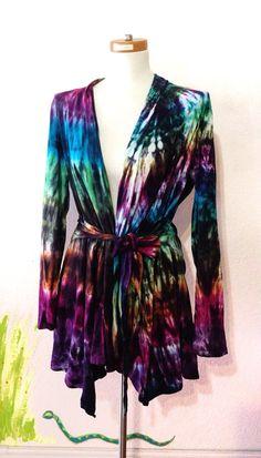 Tie Dye Wrap-Sweater böhmische Hippie Kleider von 2dye4designs