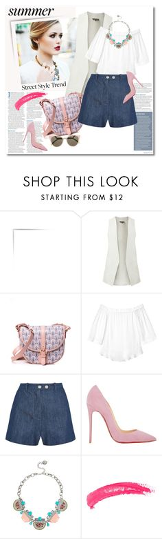 Look the day by vkmd on Polyvore featuring Rebecca Taylor, Topshop Unique, Christian Louboutin, Liberty, Betsey Johnson, Fendi, Topshop and peasanttop