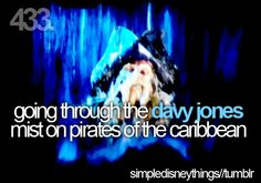 going through the davy jones mist on pirates of the carribean