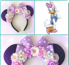 Fabrica de Laços e Tiaras (@lacosquelucram) • Fotos e vídeos do Instagram Disney Diy, Diy Disney Ears, Disney Crafts, Disney Ears Headband, Disney Headbands, Ear Headbands, Daisy Duck Party, Disney Minnie Mouse Ears, Barrettes
