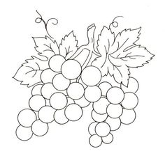 j Fruits - Album photos - Broderie d'Antan Colouring Pages, Coloring Sheets, Coloring Books, Hand Embroidery Stitches, Embroidery Patterns, Motif Floral, Stained Glass Patterns, Pattern Drawing, Silk Painting