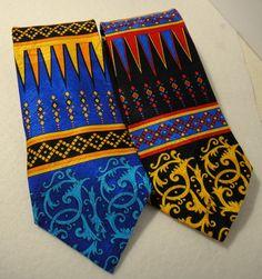 Rush Limbaugh Persian Design Ties Blue & Black Silk No Boundaries Geometric USA  #RushLimbaugh #NoBoundaries #NeckTie # #fashion #style #unique #career #silk #politics