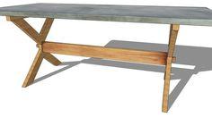 TABLE A DINER 200 TREGUIER, Maisons du monde. Réf: 139433 prix:499,90 € - 3D Warehouse