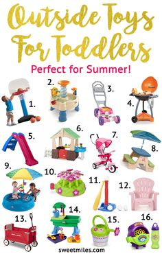 outdoor toys for toddlers this summer, toddlers, toddler toys Best Toddler Toys, Toddler Fun, Toddler Gifts, Toddler Outdoor Toys, Toys For Toddler Girl, Outdoor Play, Outside Toys For Toddlers, Trampoline For Toddlers, Toddler Outside Toys