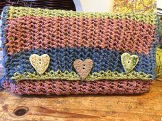 Learned how to do purse stitch so I made ... A purse