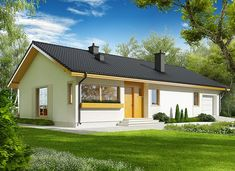 Eryk II G1 (30 stopni) - zdjęcie 2 Dream House Exterior, Dream House Plans, Modern House Design, Exterior Design, Planer, Bungalow, Gazebo, Cottage, Outdoor Structures
