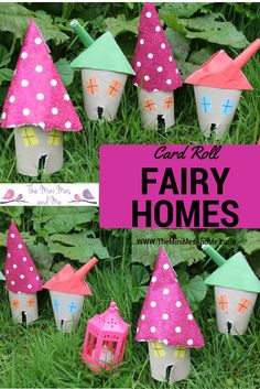 Card Roll Fairy Homes | The Mini Mes and Me