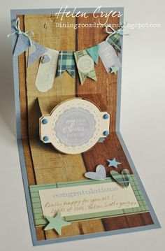 The Dining Room Drawers: Baby Boy Sizzix Pop 'n Cuts Card