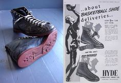 The Hyde Athletic Shoe Company offered a basketball shoe which was available right after WWII.
