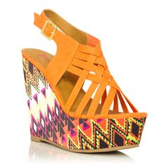 Two of my favorite things: wedges and tribal prints :)