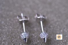 SALE mother's day Spike studs in sterling by Gvantsasfinedesigns