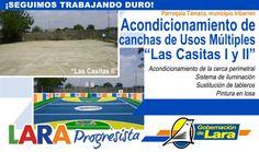 """@Gobernación de Lara Acondicionamiento Cancha Usos Múltiples """"Las Casitas II"""" #TAMACA #IRIBARREN #LaraProgresista"""