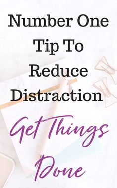 There are so many thinks that distract us and get in the way of reaching big goals. If we really want to get things done and be successful, we need to learn to stop distractions. I found this one tip to be a game changer!