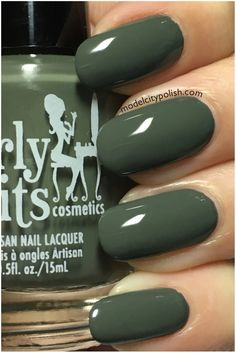 Girly Bits - Goodbye Bye. Straight up camo green creme.