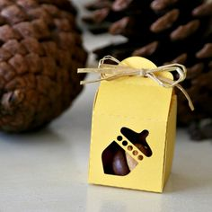 Create Acorn Treats for your Thanksgiving Feast. Will be gone in no time! Or gift with a tiny Acorn treat box.