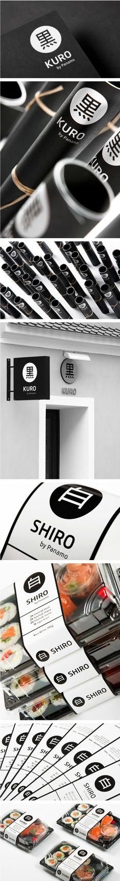 Kuro & Shiro on Behance. It's sushi for lunch identity packaging branding PD