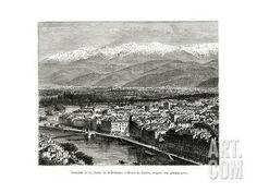 Grenoble from the Belledonne Range, France, 1886 Giclee Print at Art.com