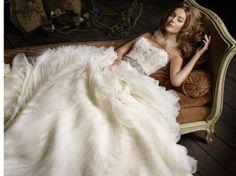 Organza, the best wedding dress.