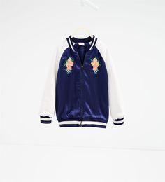 Zara Kids - Embroidered bomber jacket