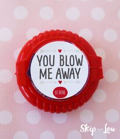 Free printable Valentine idea to pair with bubble gum tape
