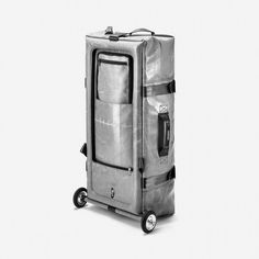 SILVERLINER | €420: If you are into the look of aluminum suitcases but looking for a solution that consumes only little storage space, then that's your reward tier!