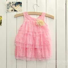 Newborn Toddlers Baby Girls Summer Layered Dress