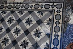 Estrella star pattern cement tile salvaged from old house